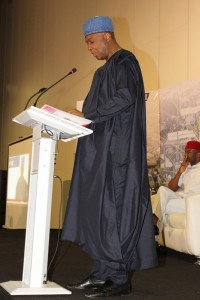 Dr Bukola Saraki giving his welcome address